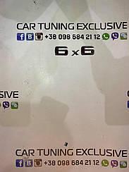 Emblems 6x6 for Mercedes G-class W463 6x6