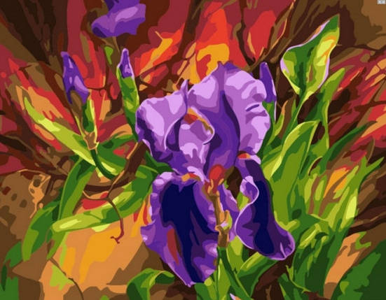 Картина по номерам Dreamtoys «Яркие ирисы» 40*50 см, 480, фото 2