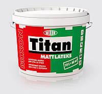 Водоэмульсионная акриловая краска для стен и потолка MIXON TITAN MATTLATEKS 1л белая матовая