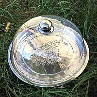 Металлический разнос с пластиковой крышкой-куполом HLS (W018444), фото 1