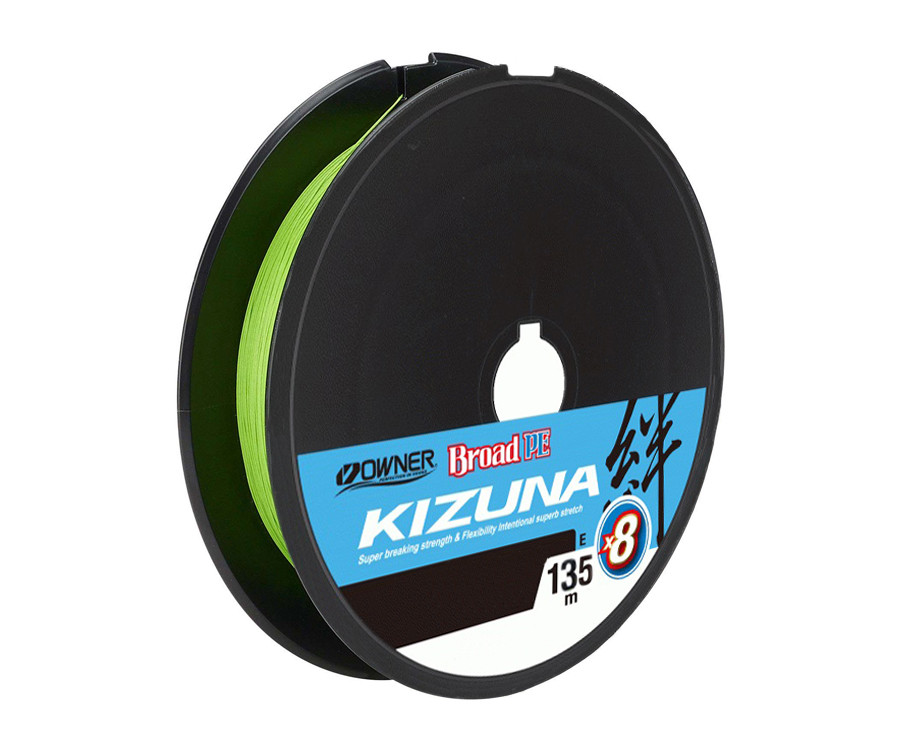Шнур Owner Kizuna Broad PEx8 135м 0.13мм 6.7кг Chartreuse