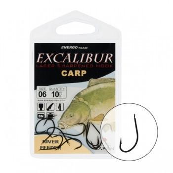 Крючок Excalibur River Feeder Black 4