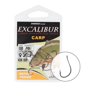 Крючок Excalibur Carp Method Feeder NS 12