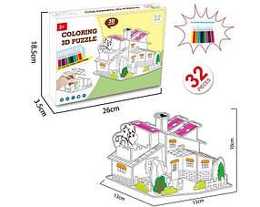 """3D конструктор HONGZHAN """"Будинок"""", 37 частин, 12 фломастерів, 8N399-8"""