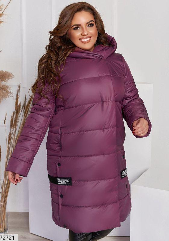 Р 48-58 Женская зимняя стеганая куртка больших размеров