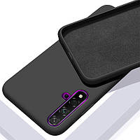 Чехол Silicone Case Full для Huawei Nova 5T black (хуавей нова 5т)