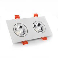 LED светильник потолочный белый двойной 5W угол поворота 45° 4100К ElectroHouse