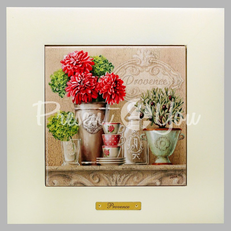 Панно настенное «Прованс. Пионы», 15х15, 23х23 см.