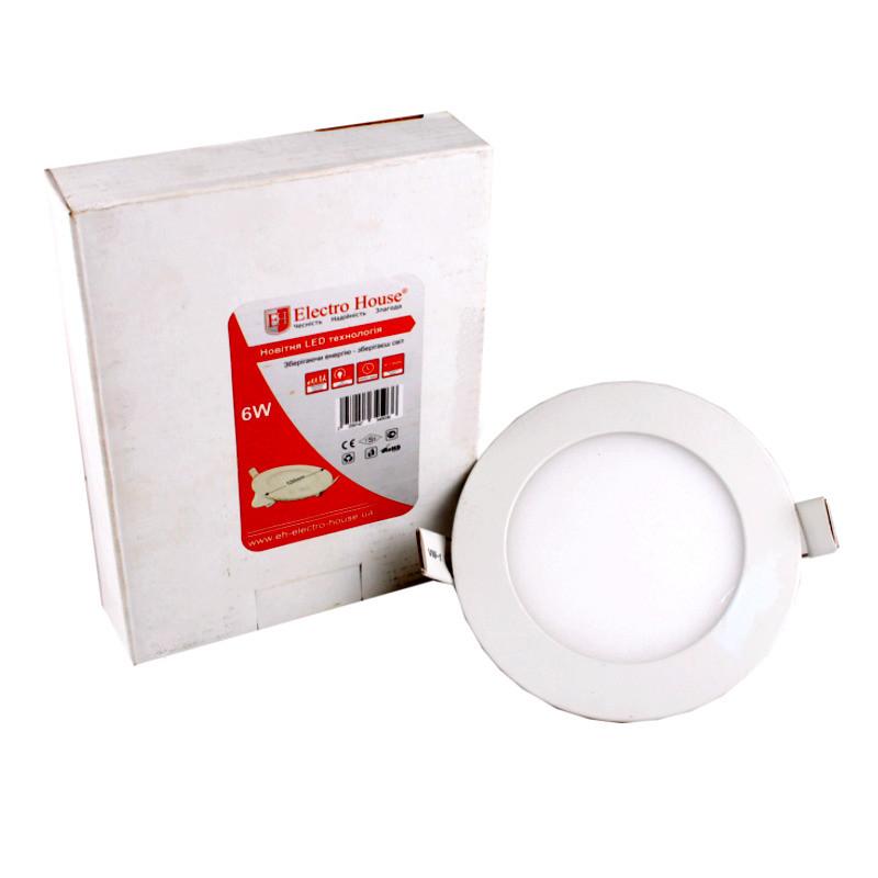 LED панель круглая 6W 4100К 540Lm Ø120мм ElectroHouse