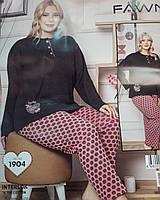 Пижама женская интерлок большой размер.