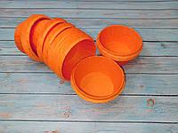 Усиленные бумажные формы с бортиком Оранжевые