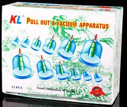 Массажные вакуумные банки 12 шт. с насосом-вакууматором Kangling Vacuum, фото 3