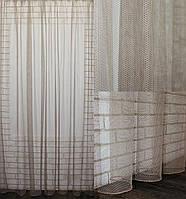 """Тюль фатин """"Грек сітка"""" Туреччина (3х2,5) однотонний, колір капучіно. Код 617т 40-280, фото 1"""