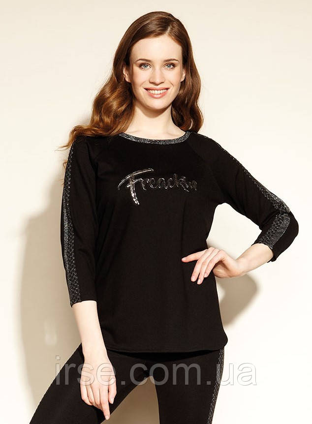 Zaps блуза Bernie черного цвета. Коллекция осень-зима 2020-2021
