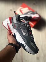 """Чоловічі Кросівки Nike M2K Tekno """"Gray Red"""" - """"Сірі Червоні Білі"""" (Репліка ААА+), фото 1"""