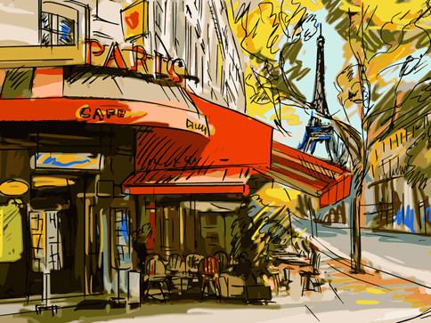 """Картина за номерами Art Craft """"Мальовничий Париж"""" 40х50см, 11209-AC"""