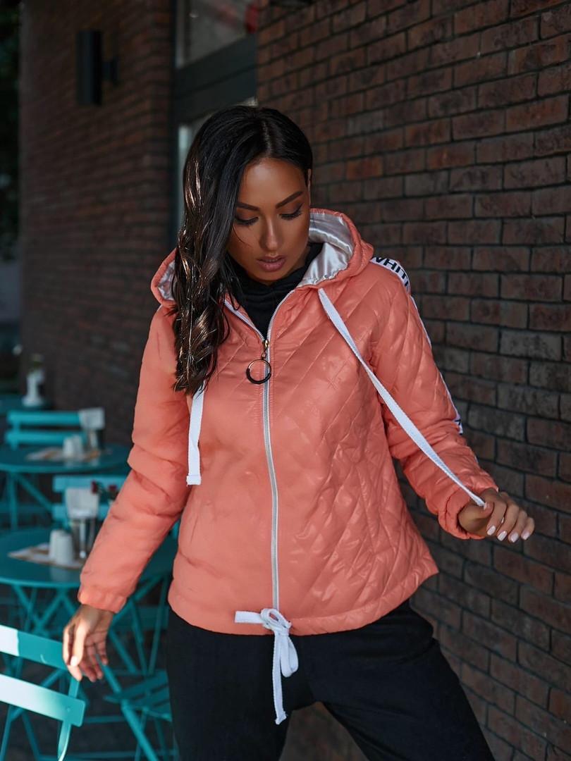 Женская куртка с капюшоном плащевка+синтепон размер: 48-50, 50-52, 52-54