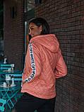 Женская куртка с капюшоном плащевка+синтепон размер: 48-50, 50-52, 52-54, фото 5
