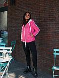 Женская куртка с капюшоном плащевка+синтепон размер: 48-50, 50-52, 52-54, фото 6