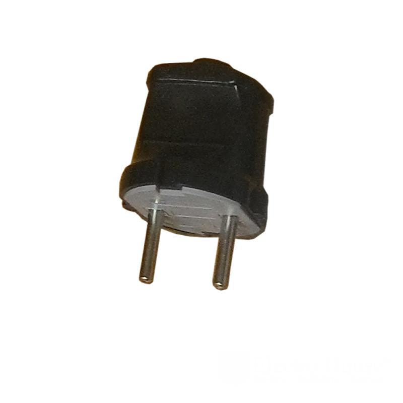 Вилка без заземления Garant (черная) ElectroHouse