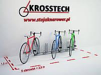 Велопарковка на 6 велосипедів Rad-6 Польща, фото 7