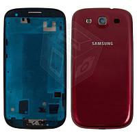 Корпус для Samsung Galaxy S3 i9300 - оригинальный (бордовый)