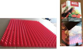 Коврик силиконовый пирамидки вафельный для жарки в духовке пирамидка для выпечки, 38*27, фото 3