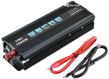 Преобразователь напряжения(инвертор) UKC 12-220V 1500W + USB Black