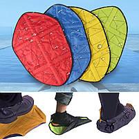 Автоматичні багаторазові бахіли Reusable Portable Automatic Shoe (мікс кольорів), фото 2