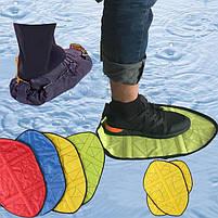 Автоматичні багаторазові бахіли Reusable Portable Automatic Shoe (мікс кольорів), фото 7