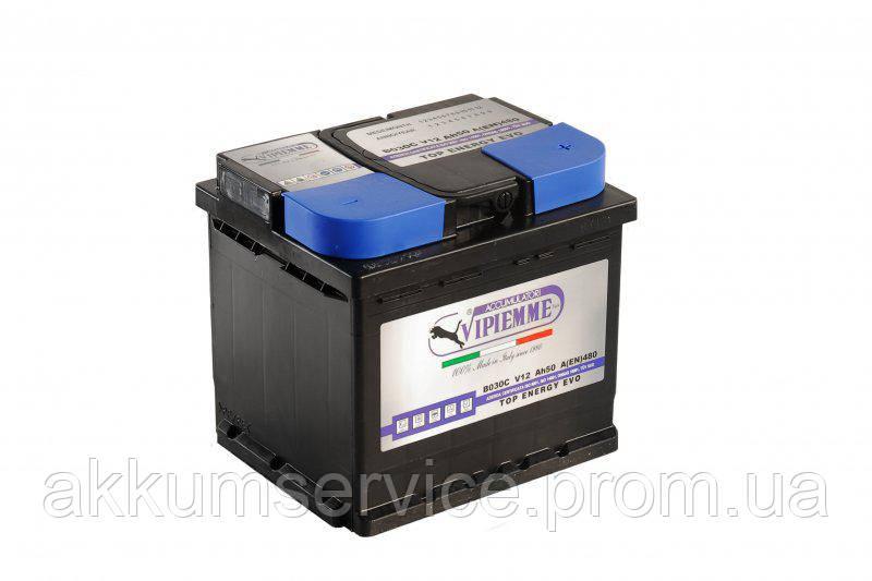 Аккумулятор автомобильный Vipiemme Top Energy Evo 50AH L+ 480A (B029C)