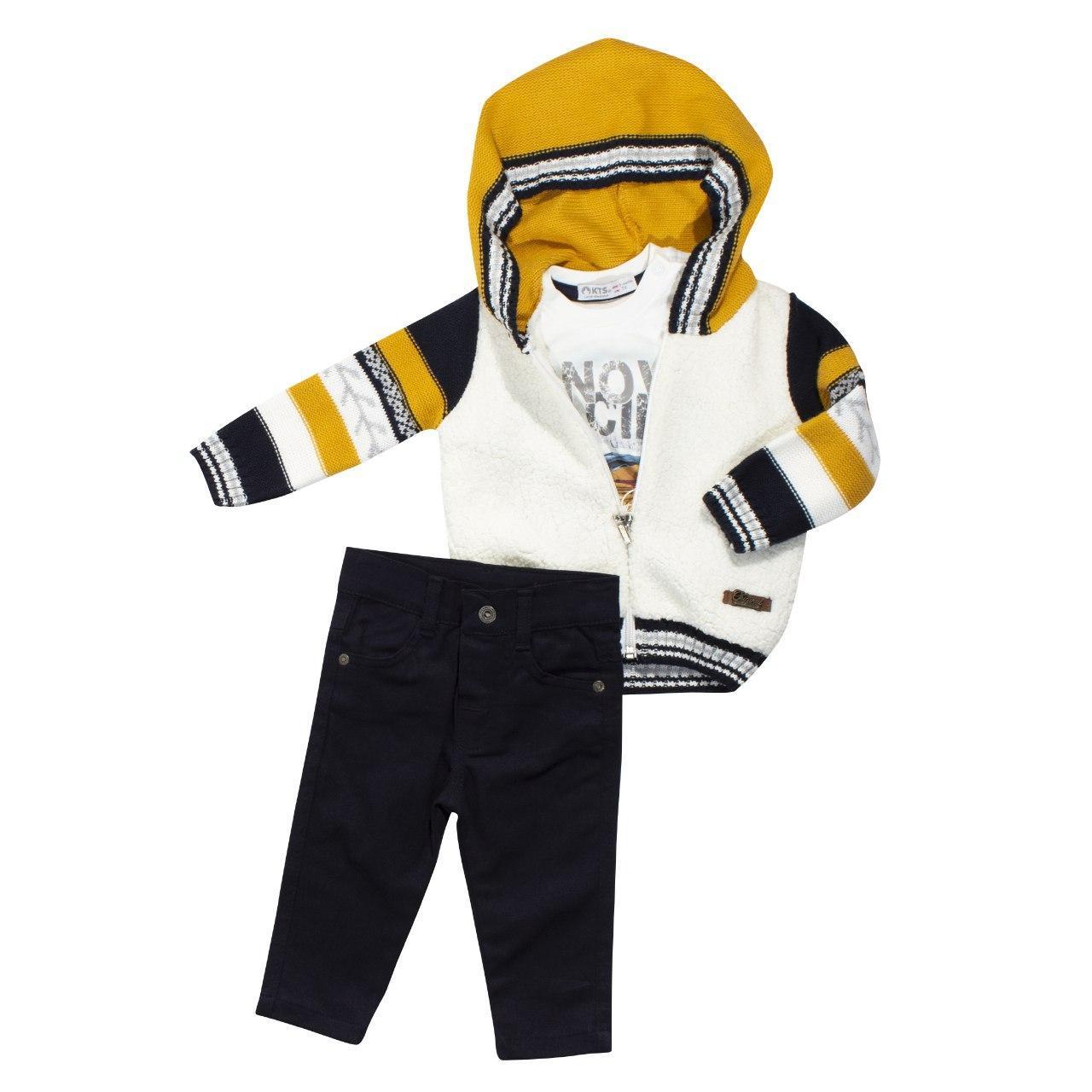 Теплый костюм из 3-х единиц для мальчика, размеры 9, 12 мес, 2 года
