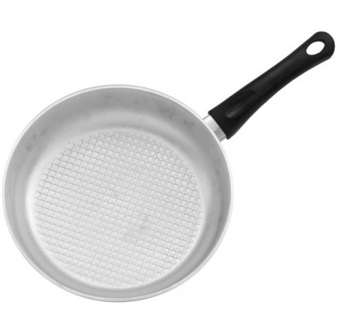 Сковорода алюминиевая с рифленым дном и крышкой ТМ Биол 260 мм