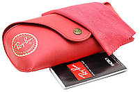 Футляр чехол для очков Ray Ban (полный комплект) Red, фото 2
