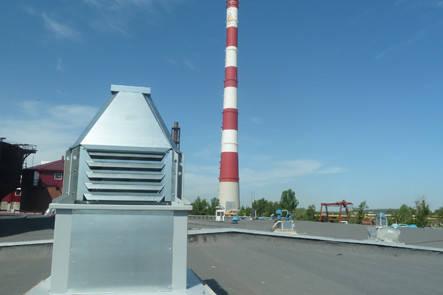 Вентилятор крышный радиальный с выходом потока в стороны КРОС