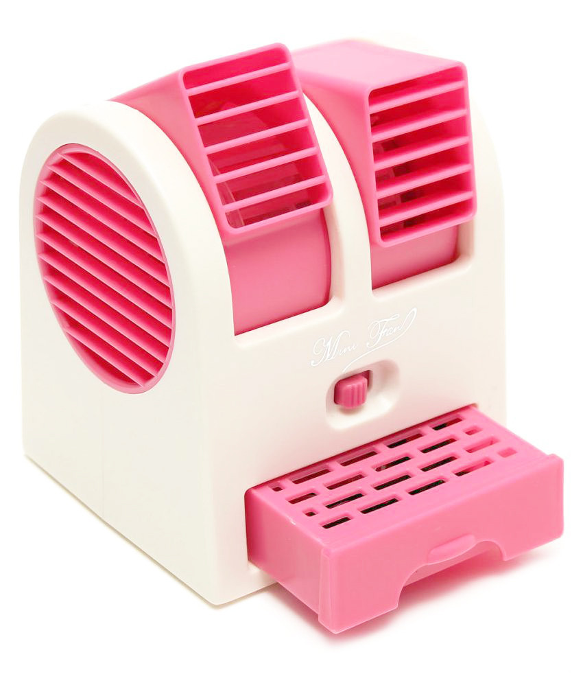 Мини-кондиционер вентилятор Mini Fan UKC HB-168 розовый