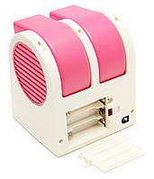Мини-кондиционер вентилятор Mini Fan UKC HB-168 розовый, фото 2