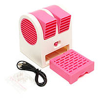 Мини-кондиционер вентилятор Mini Fan UKC HB-168 розовый, фото 3