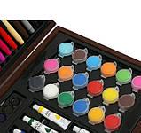 Набор для рисования 123 предмета в деревянном чемодане детский Mega Art Set, фото 8