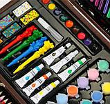 Набор для рисования 123 предмета в деревянном чемодане детский Mega Art Set, фото 9