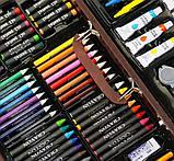 Набор для рисования 123 предмета в деревянном чемодане детский Mega Art Set, фото 10