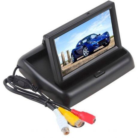 """Автомобильный раскладной монитор 5"""" дюймов для камер заднего/переднего вида 2 видео входа (14080)"""