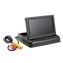 """Автомобильный раскладной монитор 5"""" дюймов для камер заднего/переднего вида 2 видео входа (14080), фото 2"""