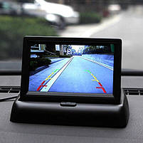 """Автомобильный раскладной монитор 5"""" дюймов для камер заднего/переднего вида 2 видео входа (14080), фото 6"""
