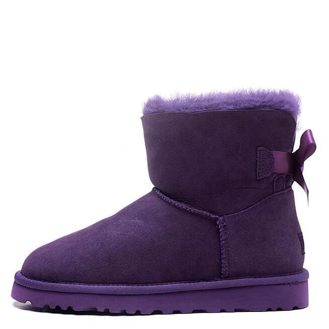"Женские уги UGG mini bailey bow ii boot ""purple"" арт. 1683"