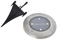 Уличный светильник на солнечной батарее Solar Disk Lights 4 led (5050), фото 3