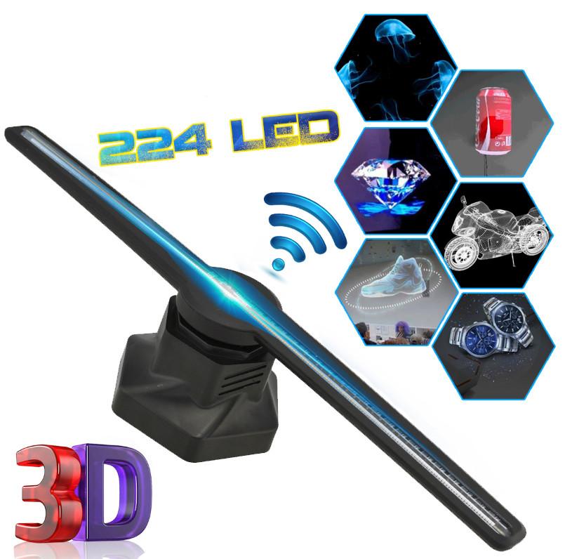 3D голографічний проектор вентилятор DISPLAMAX Black (13977)