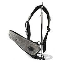 Рюкзак Bobby однолямочный через плечо с USB зарядным и портом для наушников серый (13928), фото 7