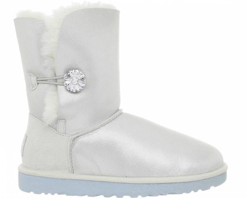 "Женские Угги UGG bailey button ii boot leather ""i do"" арт. 0362"