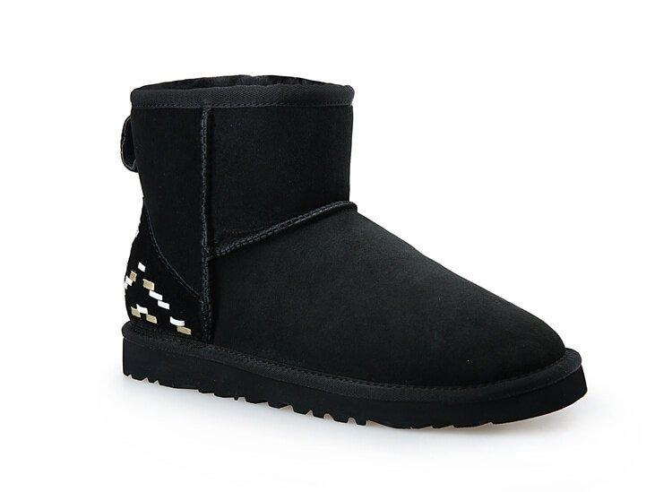 "Угги UGG Женские classic mini ii boot ""black ornament"" арт. 1526"